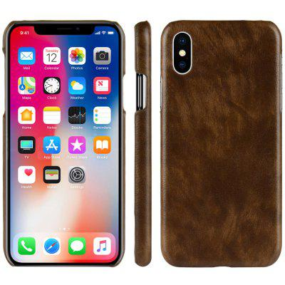Hard Leather Protective Phone Case Cover for iPhone XS