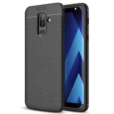 ASLING Litchi Grain PU Leather + TPU Phone Case for Samsung Galaxy J8 2018