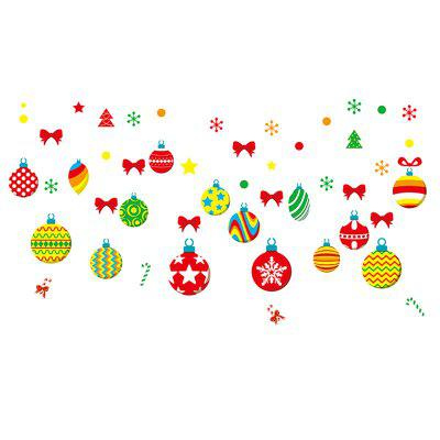 Christmas Sticker Wallpaper PVC Ball Decoration Decal