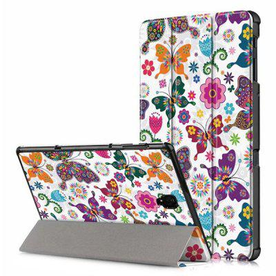 Painted Three-Fold Tablet Leather Case for 8.4 inch HUAWEI Mediapad M5
