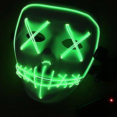 Kreatív LED félelmetes arc Halloween Carnival Mask Toy