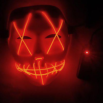 Creative LED Scary Face Halloween Carnival Mask Toy