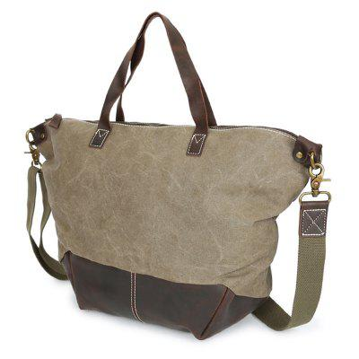 GFAVOR Retro Horse Hide Canvas Single Hand Bag