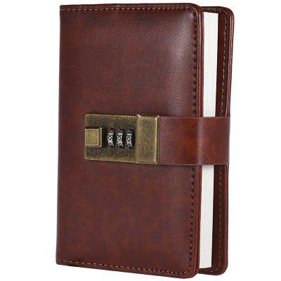 Portable Lock Student Creative Journal Notebook
