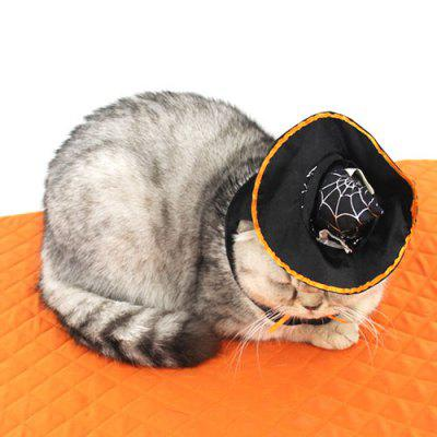 Costume da animale domestico di Halloween vestiti Cat Witch Hat