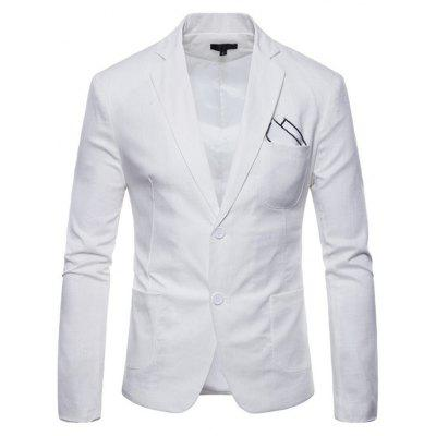 Men Fashion Comfortable Linen Leisure Classic Slim Blazer