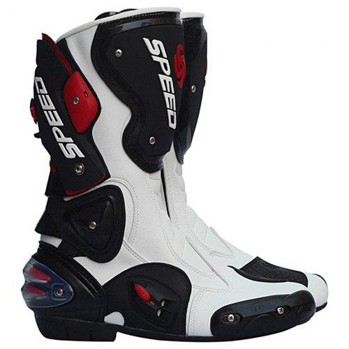 a806e3a36462fe Riding Tribe B1001 Professional Motorbike Boots Motocross Racing Waterproof  Biker Protect Ankle Shoes