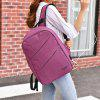 Leisure High-capacity USB Charging Port Men Backpack - LILAC