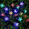 Solar Waterproof Peach Blossom String Light for Garden Christmas Decoration - WHITE