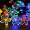 Solar Waterproof Peach Blossom String Light for Garden Christmas Decoration - άσπρο