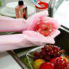 Pair of Silicone Cleaning Gloves for Bathroom Kitchen - PIG PINK