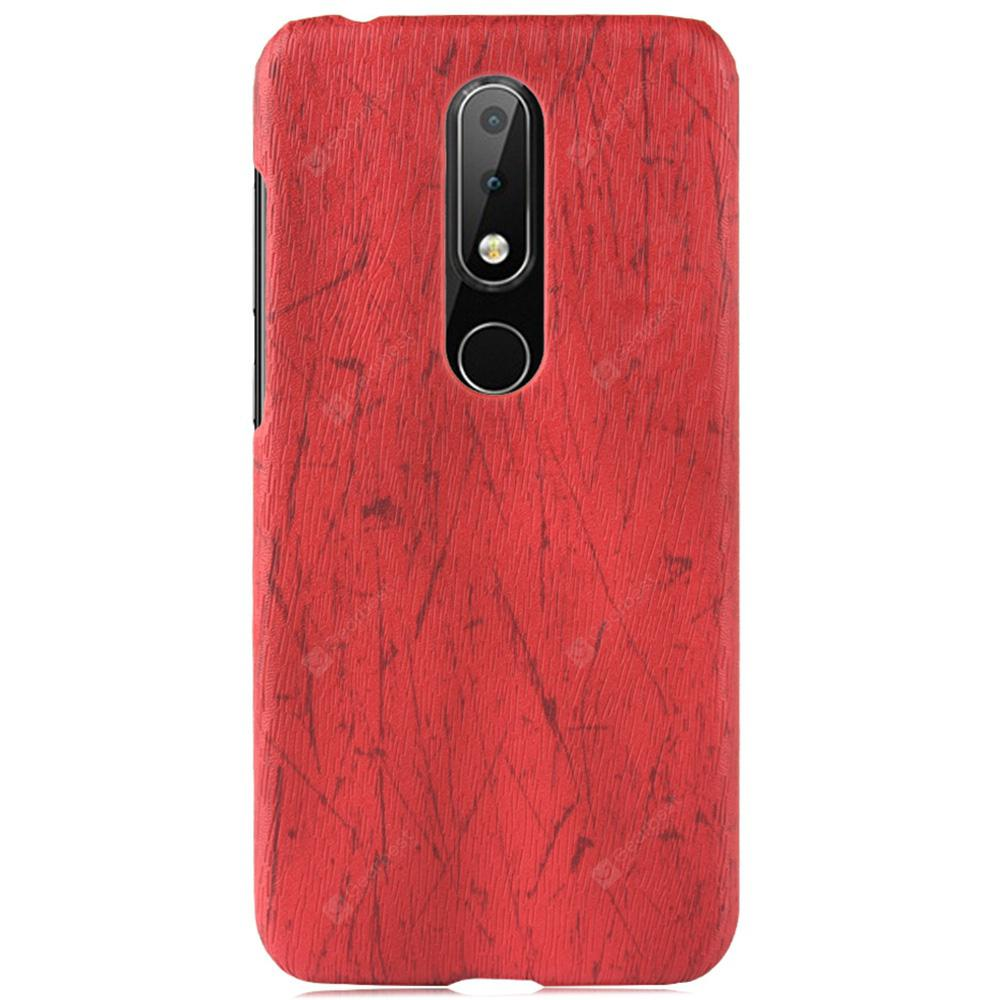 Antique and Anti Falling Wood Grain Protective Case for Nokia X6