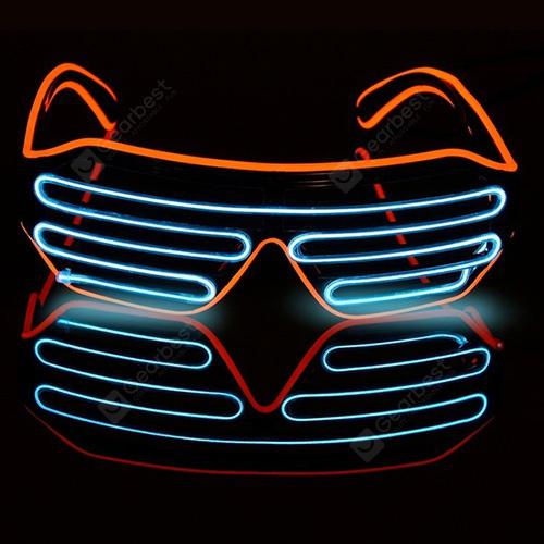 Halloween Voice-activated Mixed-color Illuminating Glasses Toys