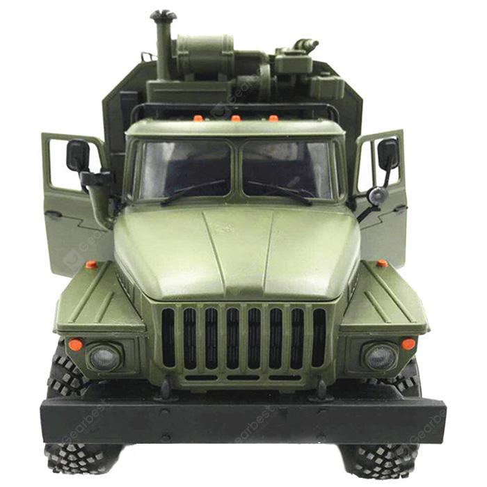 WPL B36 Ural 1 / 16 2.4G 6WD Rc Bíll Military Truck Rock Crawler - ARMY GREEN RTR