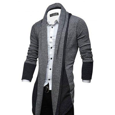 Leisure Men's Splicing Cardigan Sweater