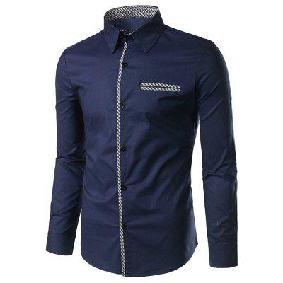 Men's Shirt Long Sleeve with Pattern
