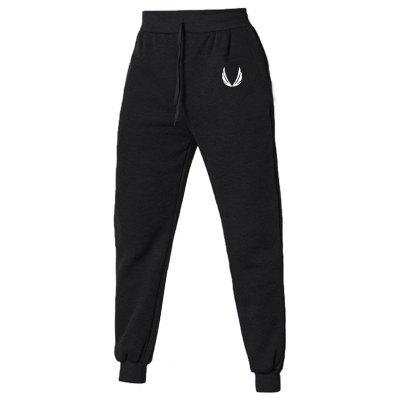 Men Fashion Warm Comfortable Wing Print Sports Pants
