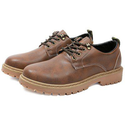 Sapatos Masculinos Oxford Sola de Borracha Anti-slip Lace Up