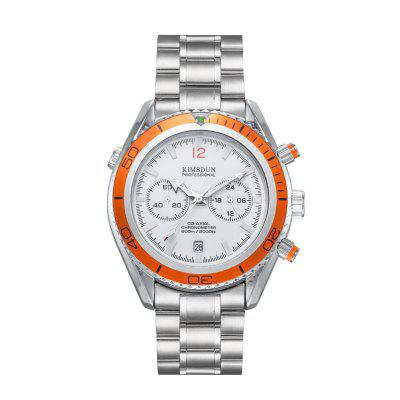 KIMSDUN K - 831D Quartz Watch with Stainless Steel Band
