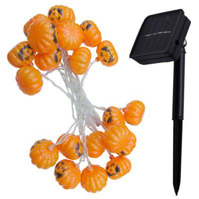 2.5m Waterproof LED Pumpkin Style Solar Power String Light for Halloween Decoration