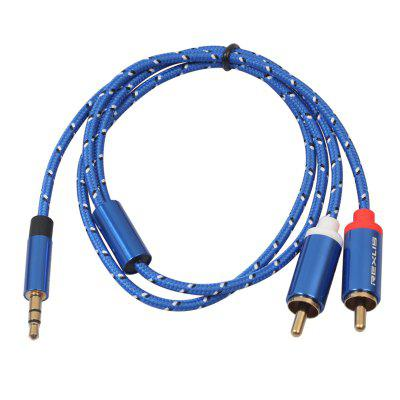 REXLIS AUX Male to Two RCA Extension Cable