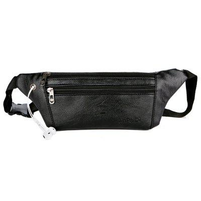 Men's Leather Multifunction Waist Bag