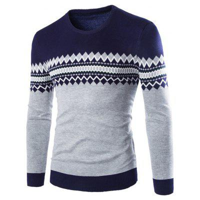 Autumn Men's Sweater Round Neck with Pattern