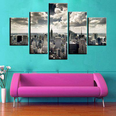 Modern Unframed Prints High Definition Building Wall Art 5PCS