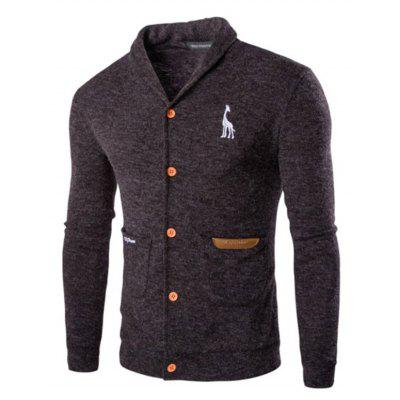 Men's Long Sleeve Cotton Cardigan Fashion Casual