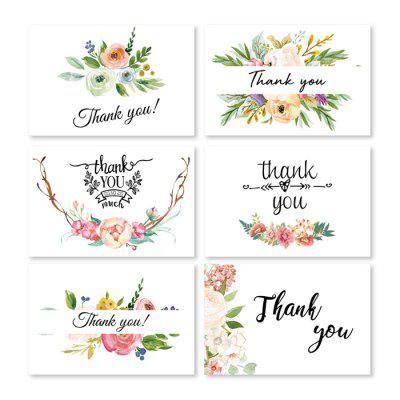 Thank You Greeting Card for Thanksgiving Christmas Birthday Gift 6pcs