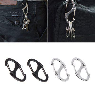 Outdoor Zinc Alloy Carabiner Mini EDC Hang Buckle 4pcs