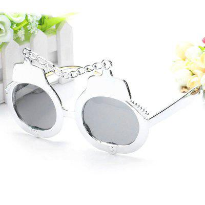 Handcuffs Glasses Silver Decoration Funny Props Party Supplies