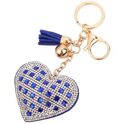 Luxury Diamond Heart Car Key Chain Ring