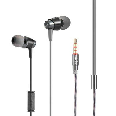 KJ740 3.5mm Wired Subwoofer Earphone In-ear Earbuds with Mic for Mobile Phones