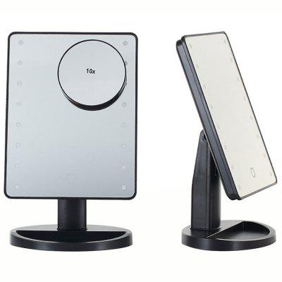 KW033 16-LED Table Mirror + 10X Magnifying Glass