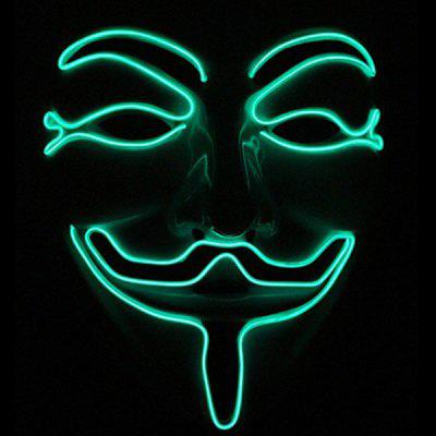 Halloween EL Cold Light Horror Face Glowing Mask Party Prop