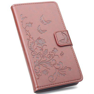 Flip Phone Case with Flowers Plating for Xiaomi Mi 8