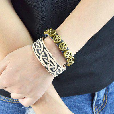 BR - 5681 National Style Leather Simple Bracelet for Girl Women