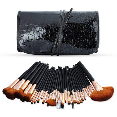 32 piece Makeup Brush Set with Storage Bag BLACK