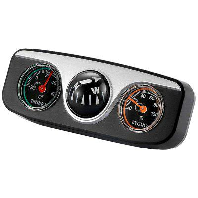 3 in 1 Car Compass with Thermometer and Hygrometer