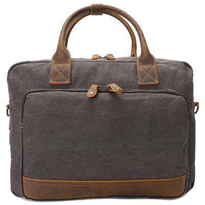 GFAVOR Men  's Handbag Canvas Briefcase