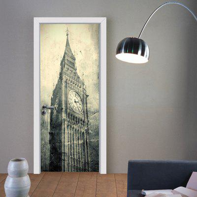 Big Ben Door Sticker PVC Room Decoration