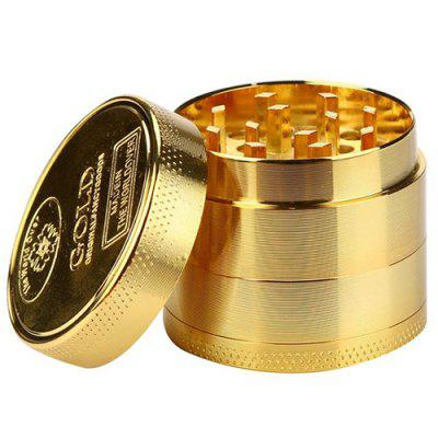 40mm 4 Layers Zinc Alloy Gold Tobacco Grinder