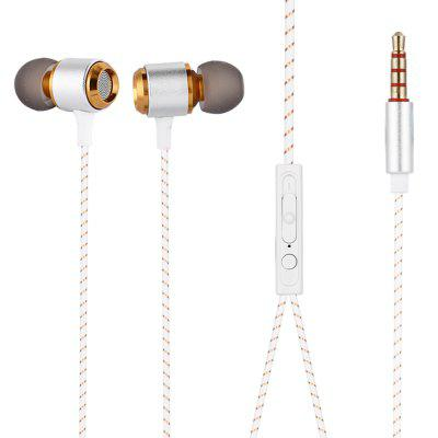 KJ855 3.5mm Wired Subwoofer Earphone In-ear Earbuds with Mic for Mobile Phones
