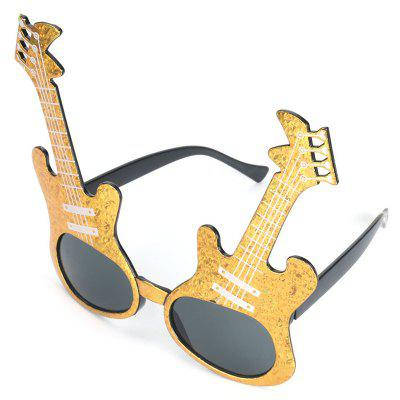 Men's Creative Guitar Motifs Funny Glasses Toy Sunglasses for Party