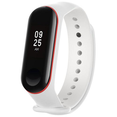 Silicone Smart Watch Strap with Anti-lost Ring for Xiaomi Mi Band 3