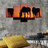 God Painting 5294 Frameless Horses in the Sunset Painting for Living Room Decoration - MULTI-A