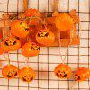 2.5m Waterproof LED Pumpkin Style Solar Power String Light for Halloween Decoration - ORANGE