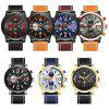 Casual Round Dial Waterproof Male Quartz Watch - MULTI-A