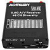 Aomway RX006 DVR 5.8G 48CH Diversity Raceband Receiver with Built-n Video Recorder Frequency Saved - BLACK